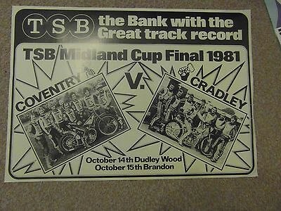 Cradley Coventry  Speedway       Poster