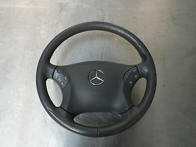 Mercedes C Class W203 Multifunctional Leather Steering Wheel With Airbag