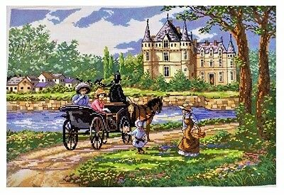 """New completed finished cross stitch""""Going Home""""decor gift"""