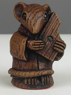 Church Mouse Musician Medieval Carving Psaltery Musical Collectable Music Gift