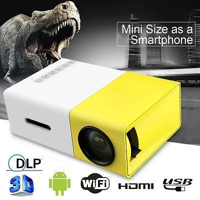Multimédia Mini 1080P 3D LCD Portable LED Home Theater Projector HDMI AV EU EH