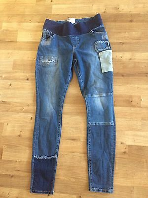 Asos  Nice And Trendy Maternity Skinny  Jeans Size 12. Ex. Condition