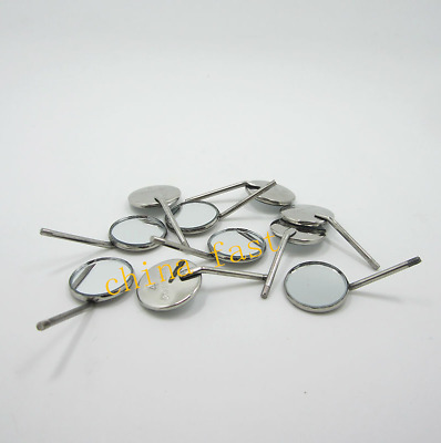 100 Pcs Dental Mouth Mirror 4# Inspect Surface Reflector Odontoscope Glimpse SS
