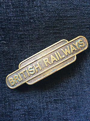 British Railways Brass Early Cap Badge Made By J R Gaunt