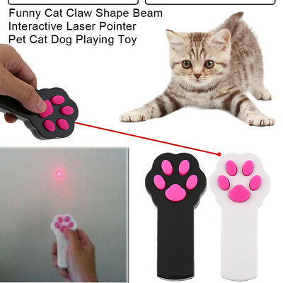 Funny Cat Claw Shape Beam Interactive Laser Pointer Pet Cat Dog Playing Toy GT