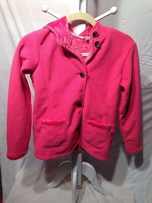 Lands And Girls Pink Jacket Hooded Size 10/12 Medium