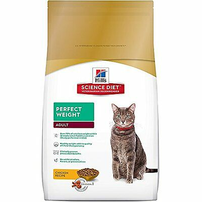 Hills Dry Science Diet Adult Perfect Weight Chicken Recipe Dry Cat Food, 7 lb
