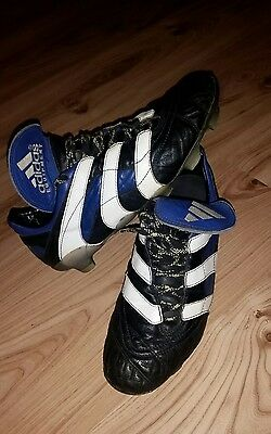 1998 Og Adidas Predator Accelerator Blue Uk 9.5 Football Shoes Zidane