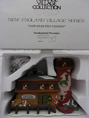 Dept 56 New England Village Cape Keag Fish Cannery