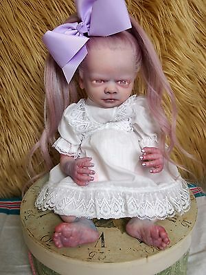 "Glowing Eyes Girl Zombie Reborn Doll ""Trinity"" by Fairytale Nightmares Nursery"