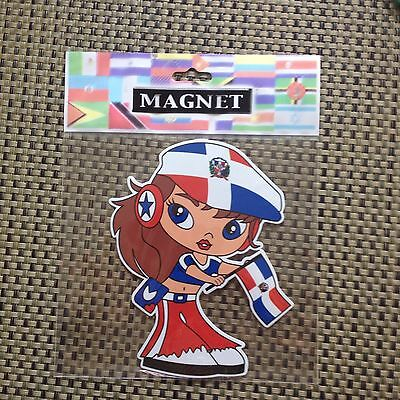 """Dominican Republic Flag With Nina Magnet  4"""" X 6"""""""