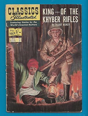 Classics Illustrated Comic Book  # 107 King of the Khyber Rifles  #718