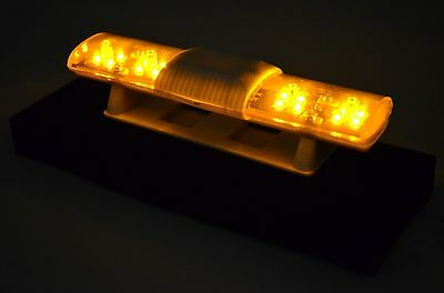 102 X 26mm Police Petrol 360° LED Light Bar for 1/10 to 1/14 RC Car - flach GELB