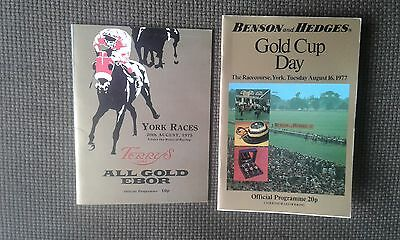 York Races racecards x 2, Ebor Handicap 1975 and Benson and Hedges Gold Cup 1977
