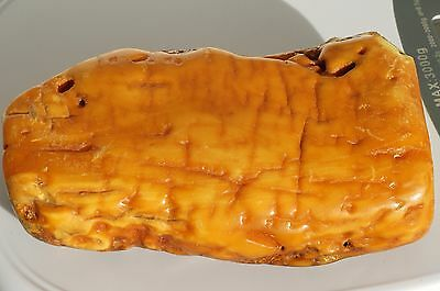 Antique baltic sea royal white, beeswax color amber stone 78 grams