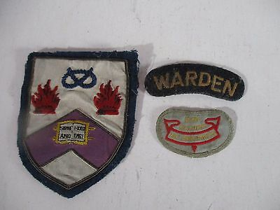 3 x VINTAGE GIRL GUIDE - SCOUT - WARDEN PATCHES
