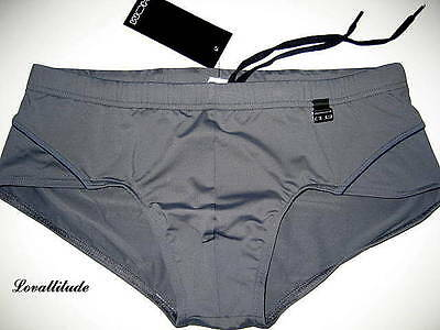 Hom Slip De Bain Gris Taille 5 Sport Gray Brief Trunks Usa/l Gb/36 Eu/6
