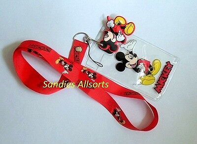 Disney Mickey Mouse Lanyard Neck Strap / ID Holder
