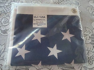 VINTAGE USA AMERICAN FLAG  made for NATIONAL GEOGRAPHIC by ANNIN CO MINT SEALED