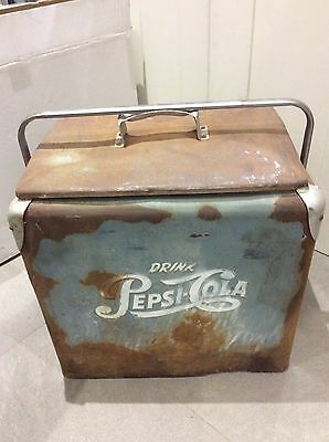 Vintage 1950's Pepsi Cooler with Patina