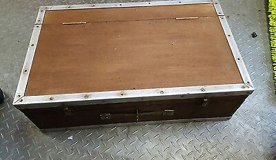 Old Metal Framed Wooden Toolbox Tool Box Joiners General 2 Drawers