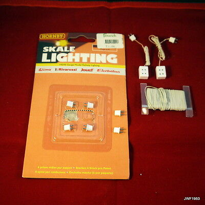 """Hornby Skale Lighting R8951, R8948 & R8949 """" Plugs x6, Double Socketsx2 & Wire"""""""