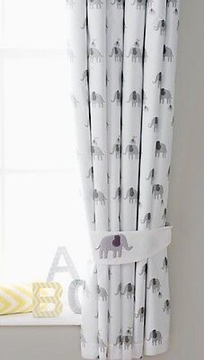 """Winnie The Pooh's Friend Elephant Toddlers Junior Blackout Curtains 66""""x72"""" D"""