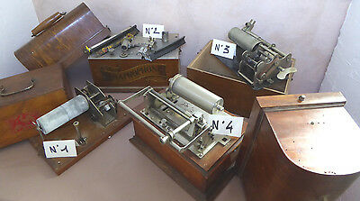 Lot 4 phonographes Pathé Columbia Gramophone Graphophone cylindres