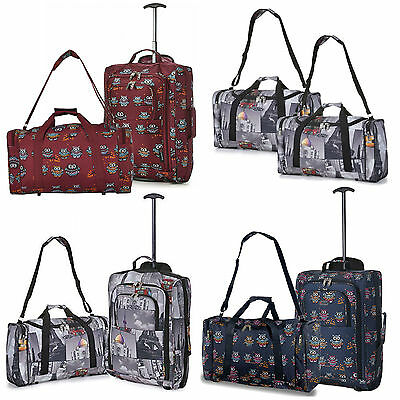 Hand Carry On Cabin Luggage Flight Bag Holdall Gym Sports Overnight Travel / Set