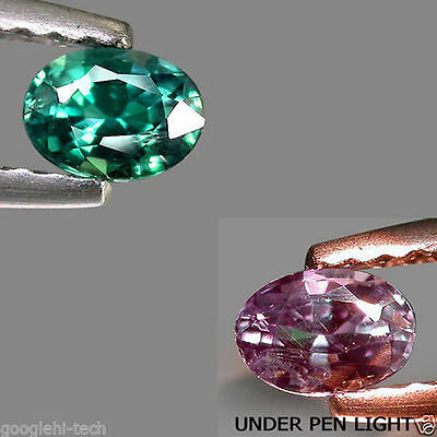 0.22Ct Natural CERTIFIED Gem - Green To Purple Color Change ALEXANDRITE VS2 LK03