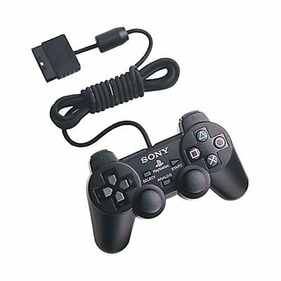Sony OEM Dualshock Controller Black For PlayStation 2 PS2 Very Good 5Z