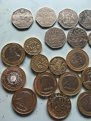 Collection Of Coins £2 £1 50p Coin Lots