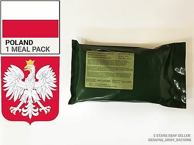 Poland Army Ration Pack. Military meals ready to eat (MRE)