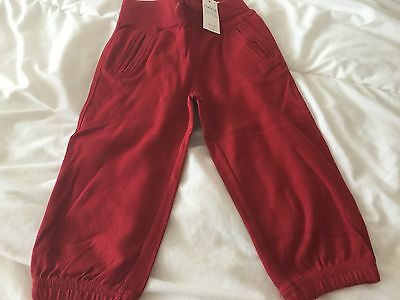 BNWT Baby Gap baby boy boys Red jogger track bottoms age 18-24m