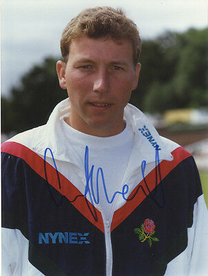 Mike Atherton - Lancashire C.C.C. and England - In Person Signed Photograph.