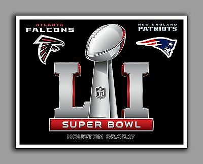 Super Bowl 51, Glossy Photo, Falcons vs Patriots 8.5 in. by 11 in. Mint