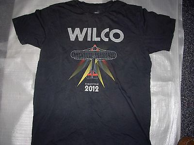 Wilco Jeff Tweedy 2012 Summer Tour Gray  T Shirt  Large