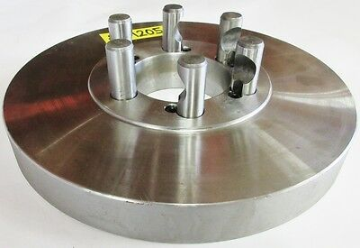 "10"" Chuck Adapter Plate D1-5 Spindle Mount 1-1/4"" Thickness"