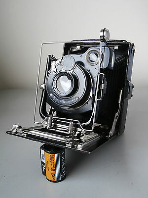 Houghton Butcher Ensign Cameo (?) 9x12 Plate Camera with Lukos 135mm f6.3 Lens