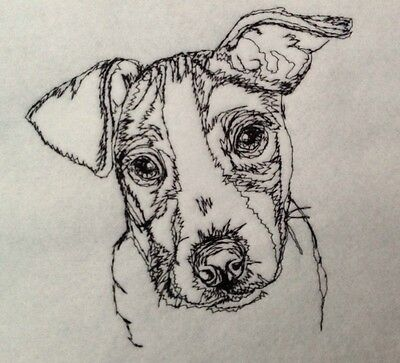 Completed Embroidery Jack Russell Terrier Dog