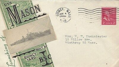 1946 Launching of USS Mason - Destroyer  cover
