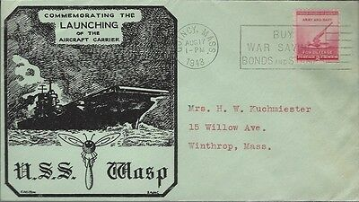 1943 Launching of USS Wasp - Aircraft Carrier cover