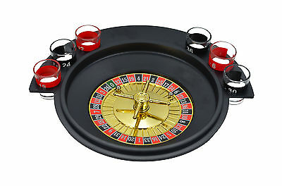 Shot Glass Roulette - Drinking Game Set (Comes With 2 Balls and 6 Shot Glasses)