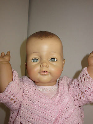 "Vintage Ideal 25"" Bye Bye Baby Vinyl Playpal Made for 1 year HTF & RARE"