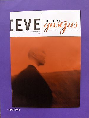 """Gus Gus Believe 24"""" x17"""" ORIGINAL 1997 PROMO POSTER 4AD electronic indie"""