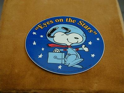 VTG NASA Eyes On The Stars Snoopy Sticker/Decal From Apollo Missions