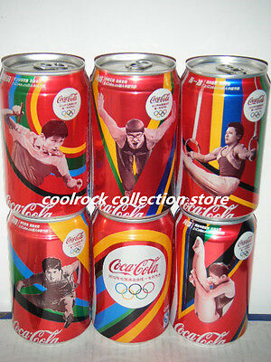 2012 China coca cola OLYMPIC GAMES 6 cans set 330ml aluminium