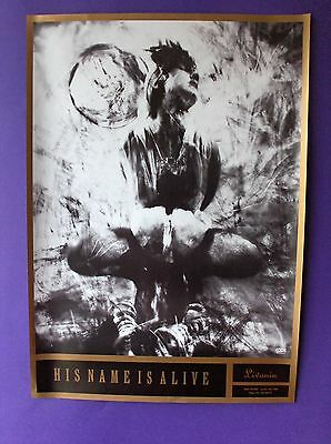 His Name Is Alive Livonia ORIGINAL 1990 PROMO POSTER 4AD indie dream pop debut