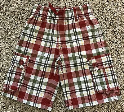 NWT Gymboree plaid cargo shorts boys size 6
