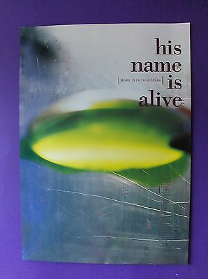 His Name Is Alive Home Is In Your Head ORIGINAL 1991 PROMO POSTER 4AD dream pop